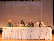 Το προεδρείο της Γενικής Συνέλευσης. Από αριστερά η Κα Ευαγγελοπούλου του Σ.Π.Α.Υ., η Τεχνική Γραμματέας o Πρόεδρος και ο Γ.Γ. της FEDENATUR κ.κ. Teresa Pastor, Slimane Tir και Marià Marti Viudes.